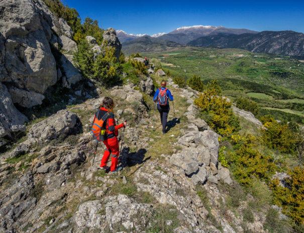 Serra de Peracalç.  Ruta El Cinquè Llac. Pirineus.  Baix Pallars, Pallars Sobirà, Lleida